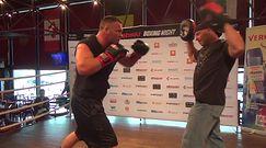 Abell na treningu otwartym przed walką z Zimnochem