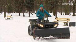 Elektryczny quad dobrze radzi sobie na śniegu