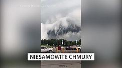 Chmury jak tsunami. Nagranie z telefonu