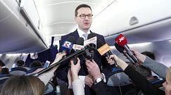 Premier Morawiecki podczas powrotu ze szczytu UE