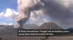 Erupcja wulkanu Bromo zakryła niebo pyłem