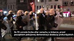 95 zabitych, niemal 250 rannych w zamachu w Ankarze
