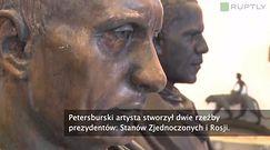Rzeźba Putina i Obamy