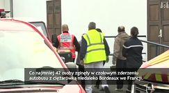 Wypadek w Puisseguin we Francji. Nie żyją 42 osoby