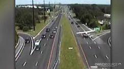 Awaryjne lądowanie na autostradzie w USA