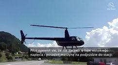 Helikopterem na stację benzynową po paliwo