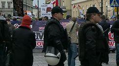 Demonstracja antyfaszystów w Warszawie