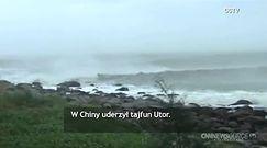 Tajfun Utor sieje spustoszenie w Chinach