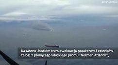 Pożar na promie na Morzu Joński