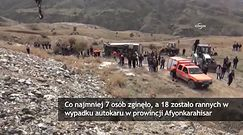 Autokar spadł ze zbocza w Turcji