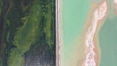 Niezwykła autostrada przecina jezioro. Nagranie z drona