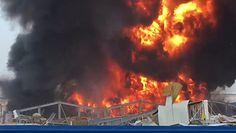 Pożar w Bejrucie. Potężna eksplozja w porcie. Nagranie świadka