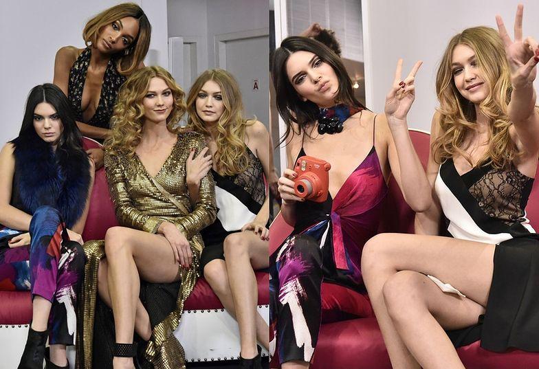 Jourdan Dunn, Kendall Jenner, Karlie Kloss i Gigi Hadid na pokazie Diane Von Furstenberg