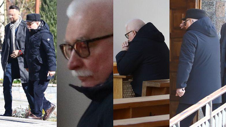 Lech Wałęsa modli się w trakcie epidemii w opustoszałym kościele