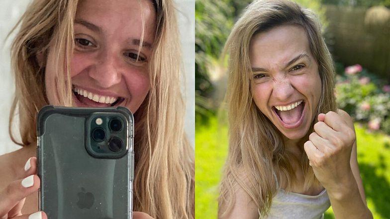 """Rozgogolona Joanna Koroniewska prowokuje """"odważnym"""" selfie. Fani zdegustowani: """"W pewnym wieku już NIE WYPADA"""" (FOTO)"""