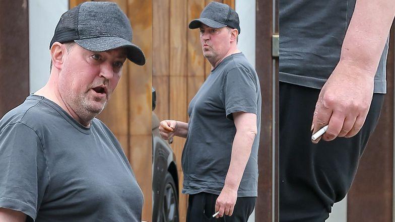 Zaniedbany Matthew Perry z papierosem w ręku spaceruje do apteki (ZDJĘCIA)
