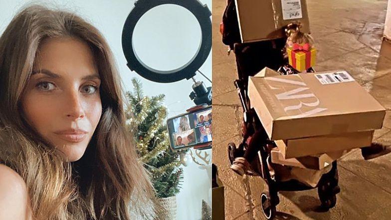 """Weronika Rosati wozi paczki ze sklepu i narzeka, że już jest umęczona przygotowaniami do świąt: """"ZA DUŻO"""""""