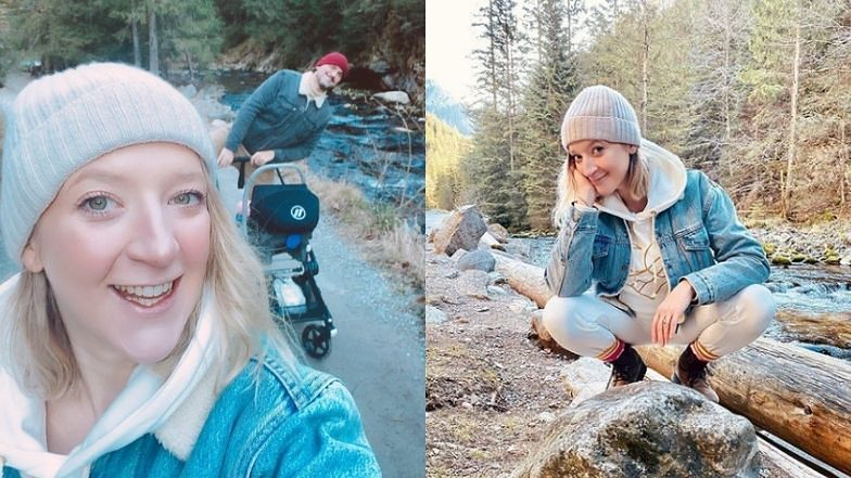 """Lara Gessler przechadza się po Tatrach z mężem i MIESIĘCZNĄ córką: """"NARESZCIE"""""""