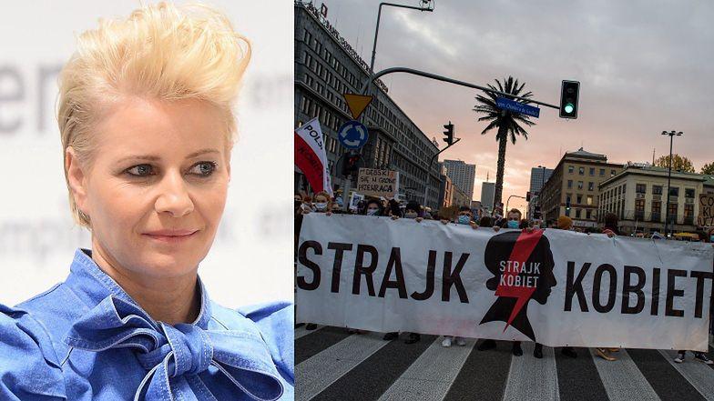 """Małgorzata Kożuchowska o Strajku Kobiet: """"Ulica NIE JEST MIEJSCEM do podejmowania tego typu dyskusji"""""""