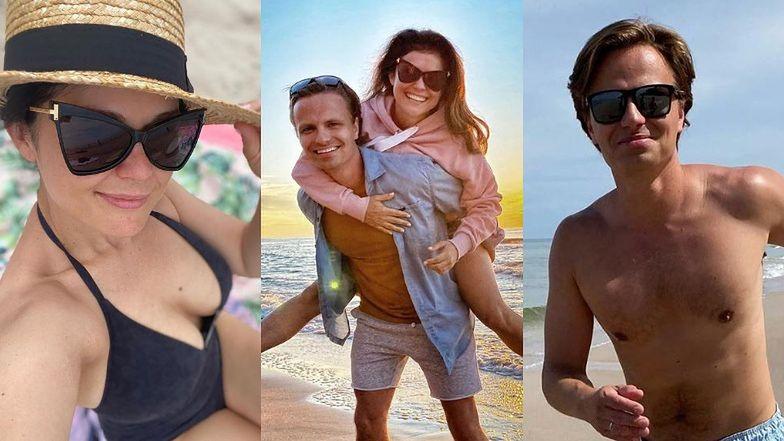 """Rozradowani Katarzyna Cichopek i Marcin Hakiel zażywają relaksu nad polskim morzem: """"CHWILO TRWAJ"""" (ZDJĘCIA)"""