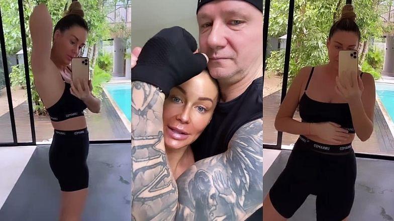 """Małgorzata Rozenek pozdrawia fanów z porannej sesji z """"joga-masterką"""" Brendą: """"Mamy tu jeszcze SPORO DO ZROBIENIA"""""""