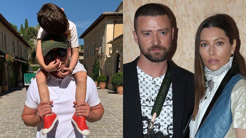 """Refleksyjny Justin Timberlake pokazał zdjęcia z synkiem! """"Próbujemy nauczyć go miłości, szacunku i równości"""""""