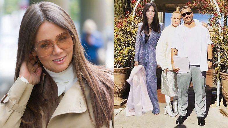 """Katarzyna Nosowska chwali się ślubnym zdjęciem z mężem i Kingą """"przyćmiłam Beyonce"""" Rusin: """"Przysięgę składała z nami w trójgłosie"""" (FOTO)"""