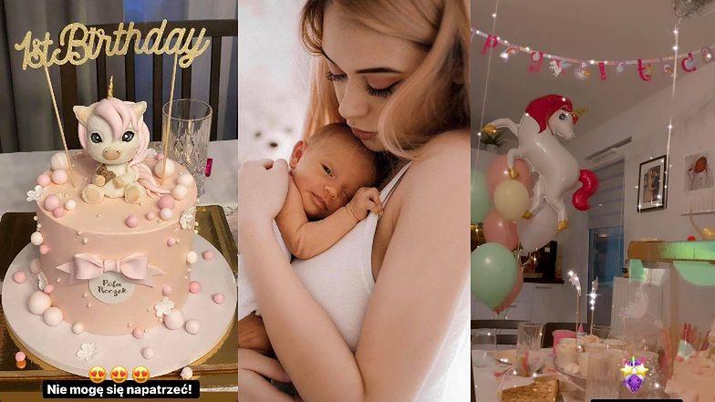 """Jan Dąbrowski i Sylwia Przybysz urządzili przyjęcie z okazji pierwszych urodzin córki: """"Kiedy to minęło?"""" (ZDJĘCIA)"""