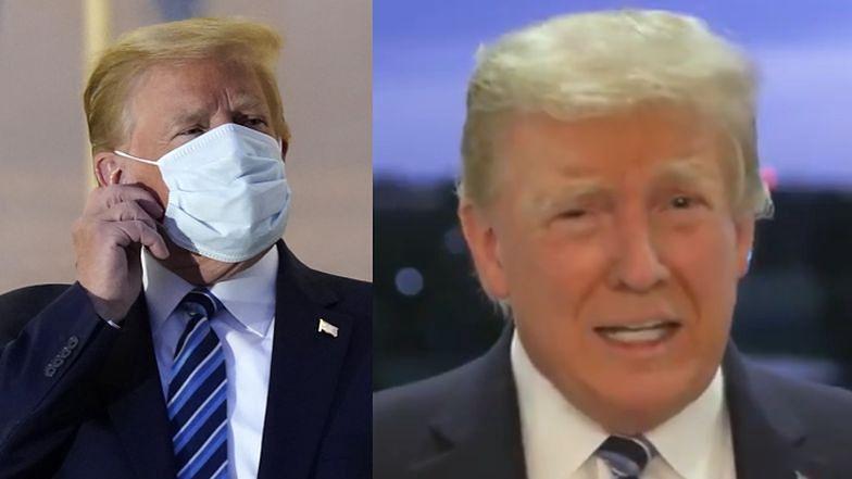 """Donald Trump wyszedł ze szpitala, ŚCIĄGNĄŁ MASECZKĘ i ogłosił: """"NIE BÓJCIE SIĘ WIRUSA"""""""