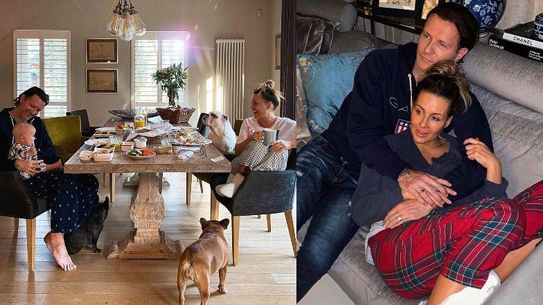 """Małgorzata Rozenek celebruje śniadanie z Pysiulą, Heniem i pupilami: """"A reszta ma homeschooling"""""""