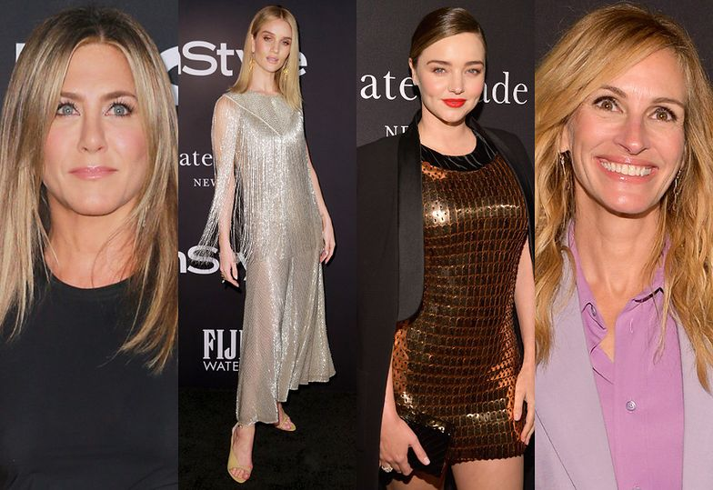 Jennifer Aniston, Rosie Huntington-Whiteley, Miranda Kerr i Julia Roberts