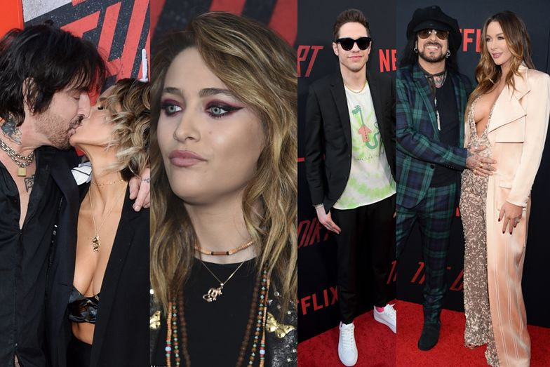 Rockmani z młodymi żonami i Paris Jackson na premierze filmu