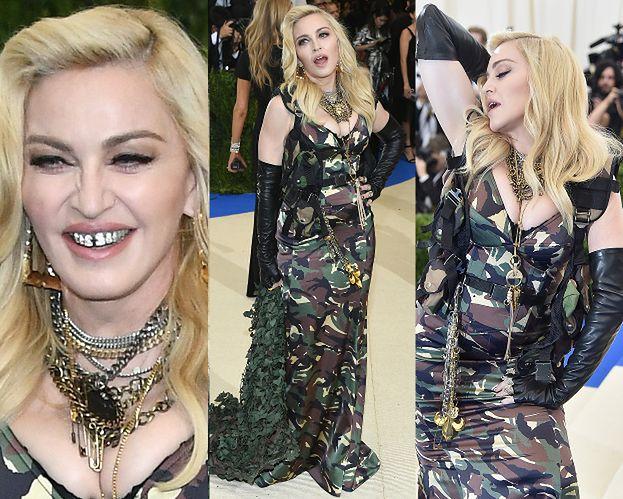 Diamentowy uśmiech 58-letniej Madonny na gali MET... (ZDJĘCIA)
