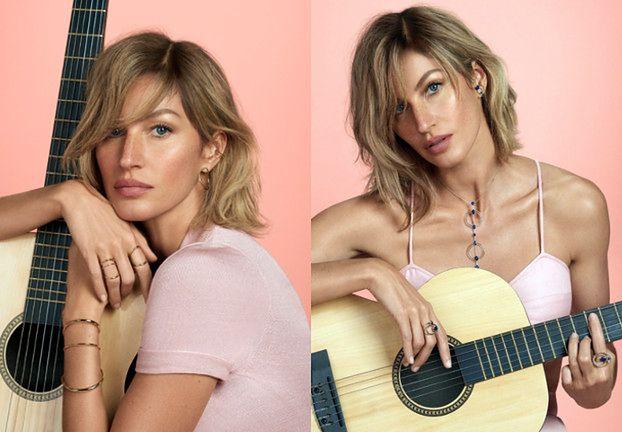 """""""Nobliwa"""" Gisele przygrywa na gitarze w nietwarzowej fryzurze"""