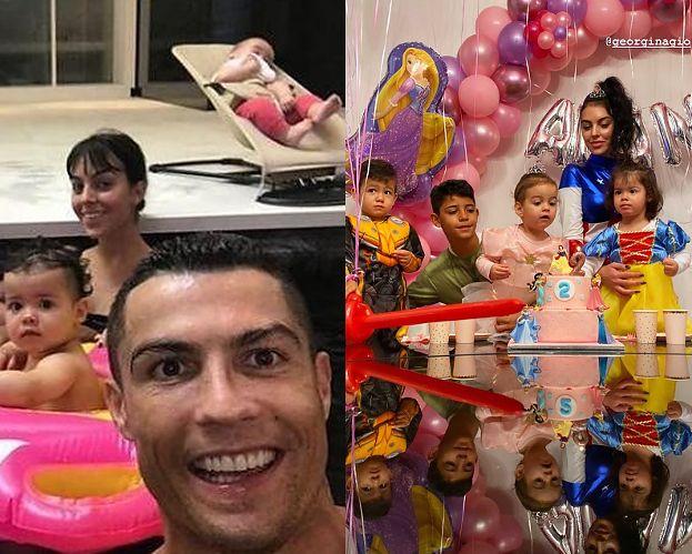 Cristiano Ronaldo świętuje z gromadką dzieci 2. urodziny córki na bajkowym przyjęciu. Słodko? (FOTO)