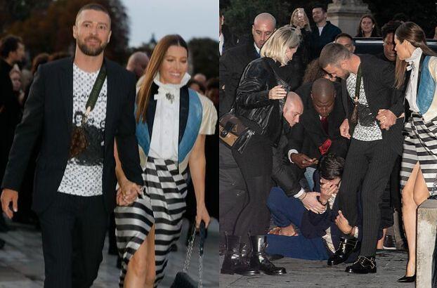 Justin Timberlake został zaatakowany podczas Paris Fashion Week!