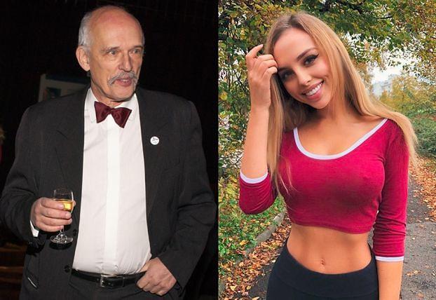 Janusz Korwin-Mikke podrywa Weronikę Bielik na Instagramie...