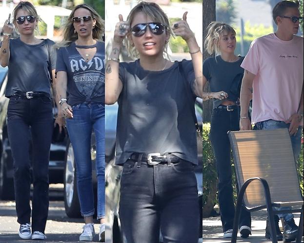 Miley Cyrus zabrała Cody'ego Simpsona i mamę na WSPÓLNE ŚNIADANIE (ZDJĘCIA)