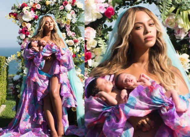 """Beyonce pokazała bliźniaki! """"Sir i Rumi skończyli dzisiaj miesiąc"""" (FOTO)"""