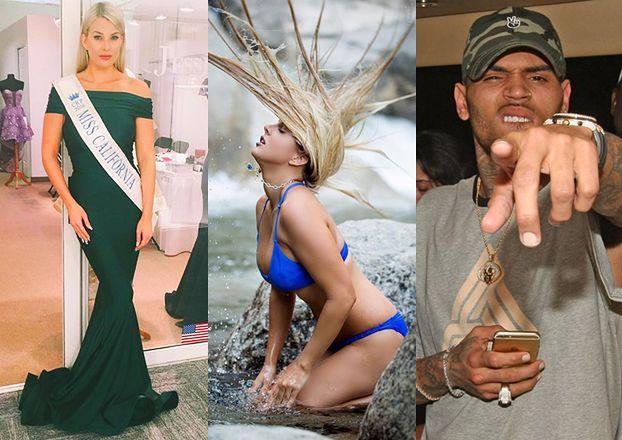 Dziewczyna, której Chris Brown groził bronią, to była Miss Kalifornii!