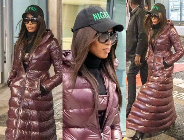 Naomi Campbell w złym humorze kroczy przez lotnisko. Pokłóciła się z chłopakiem