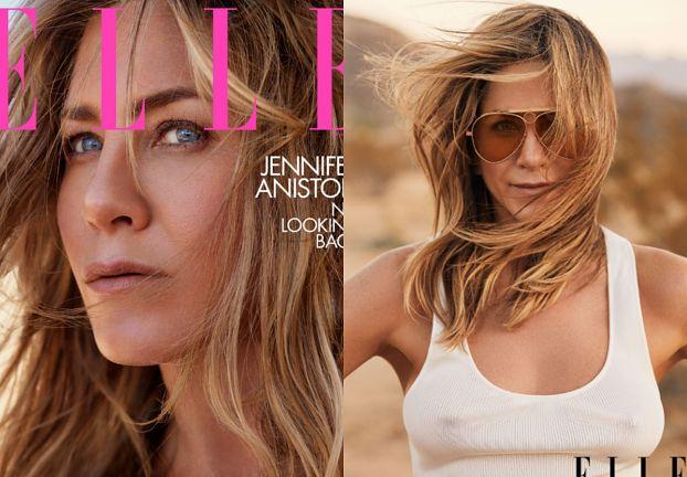 "Sterczące sutki Jennifer Aniston w sesji dla ""Elle"""