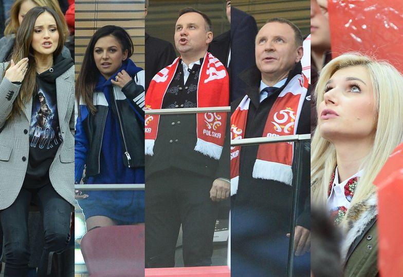 WAGs i politycy na meczu Polska-Czarnogóra