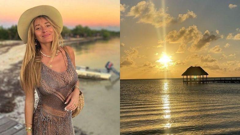 Zakochana Marcelina Zawadzka wpatruje się w NOWEGO PARTNERA na tle zachodzącego słońca