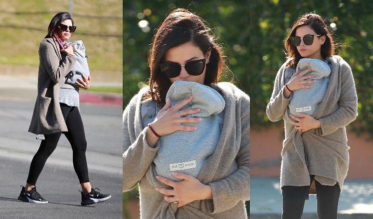 """Troskliwa Jenna Dewan w """"domowej"""" stylizacji tuli nowo narodzonego synka. Uroczy widok? (ZDJĘCIA)"""