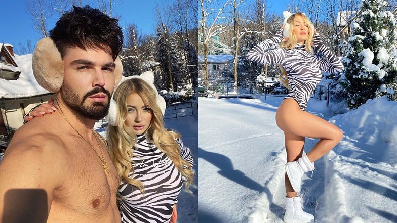 """Monika i Paweł z """"Love Island"""" lansują się na """"SUCHYM MORSOWANIU"""" w Zakopanem: """"Poskromiła we mnie wilka"""""""