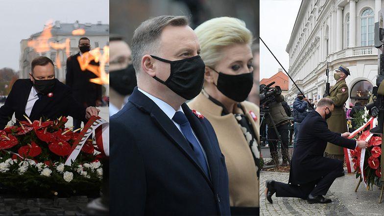 11 listopada - Święto Niepodległości: Andrzej Duda z małżonką uczestniczyli w skromnych obchodach (ZDJĘCIA)