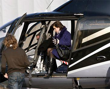 Cichopek przyleciała na plan helikopterem!