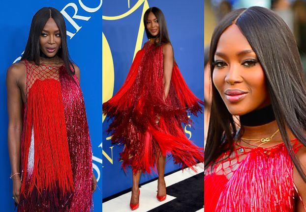 """Naomi Campbell odbiera nagrodę """"ikony mody"""" w efektownej sukni"""