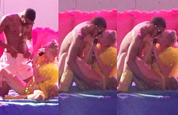 Miley Cyrus zagląda tancerzowi w majtki... (ZDJĘCIA)